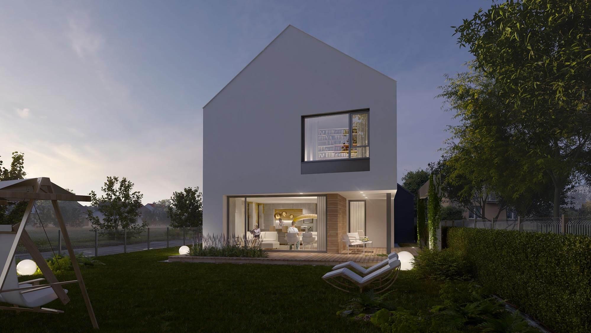 Wizualizacje architektoniczne domów jednorodzinnych, Beczak & Beczak Architekci