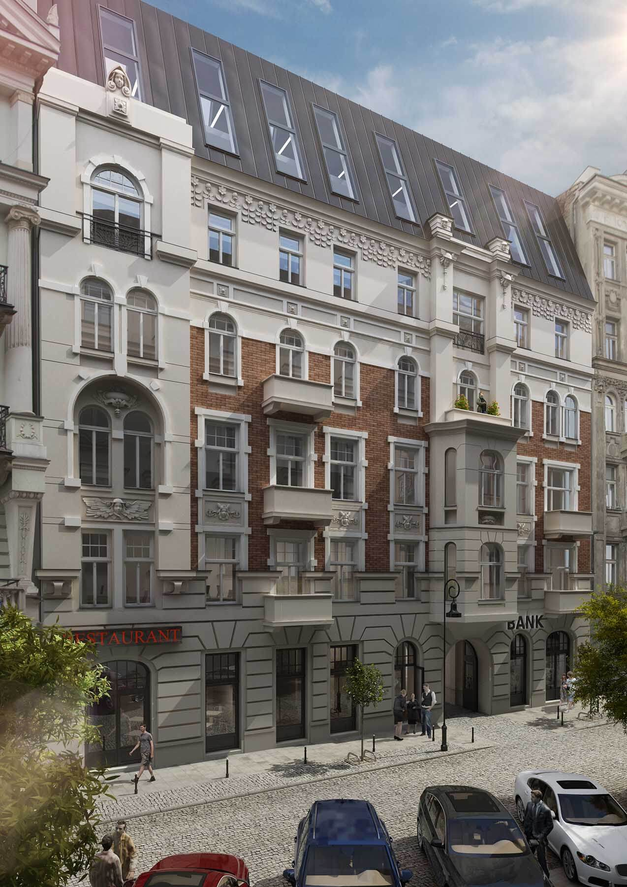 Wizualizacje architektoniczne budynku biurowego Poznańska 37