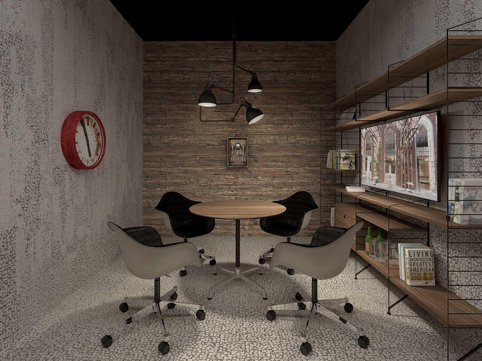 Wizualizacje wnętrz - powierzchnia biurowa w Elektrowni Powiśle