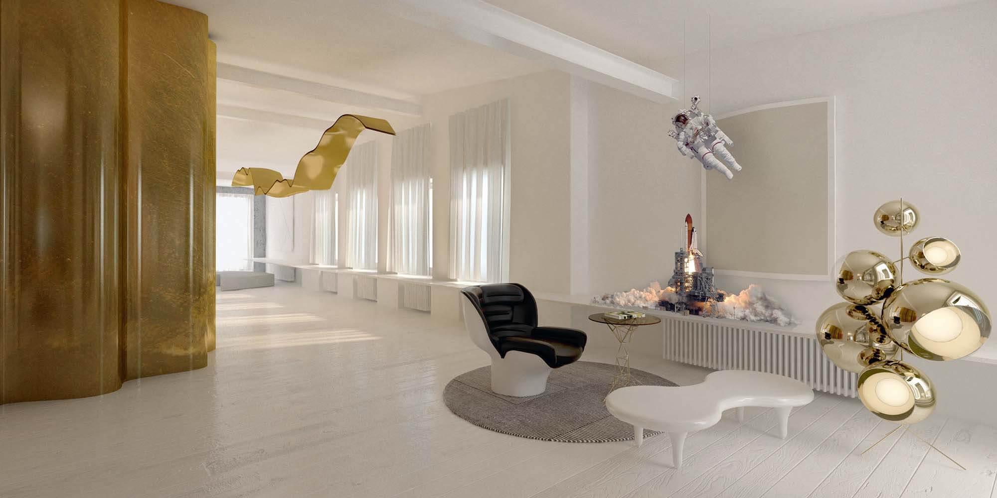 Wizualizacje wnętrz mieszkanie w Warszawie