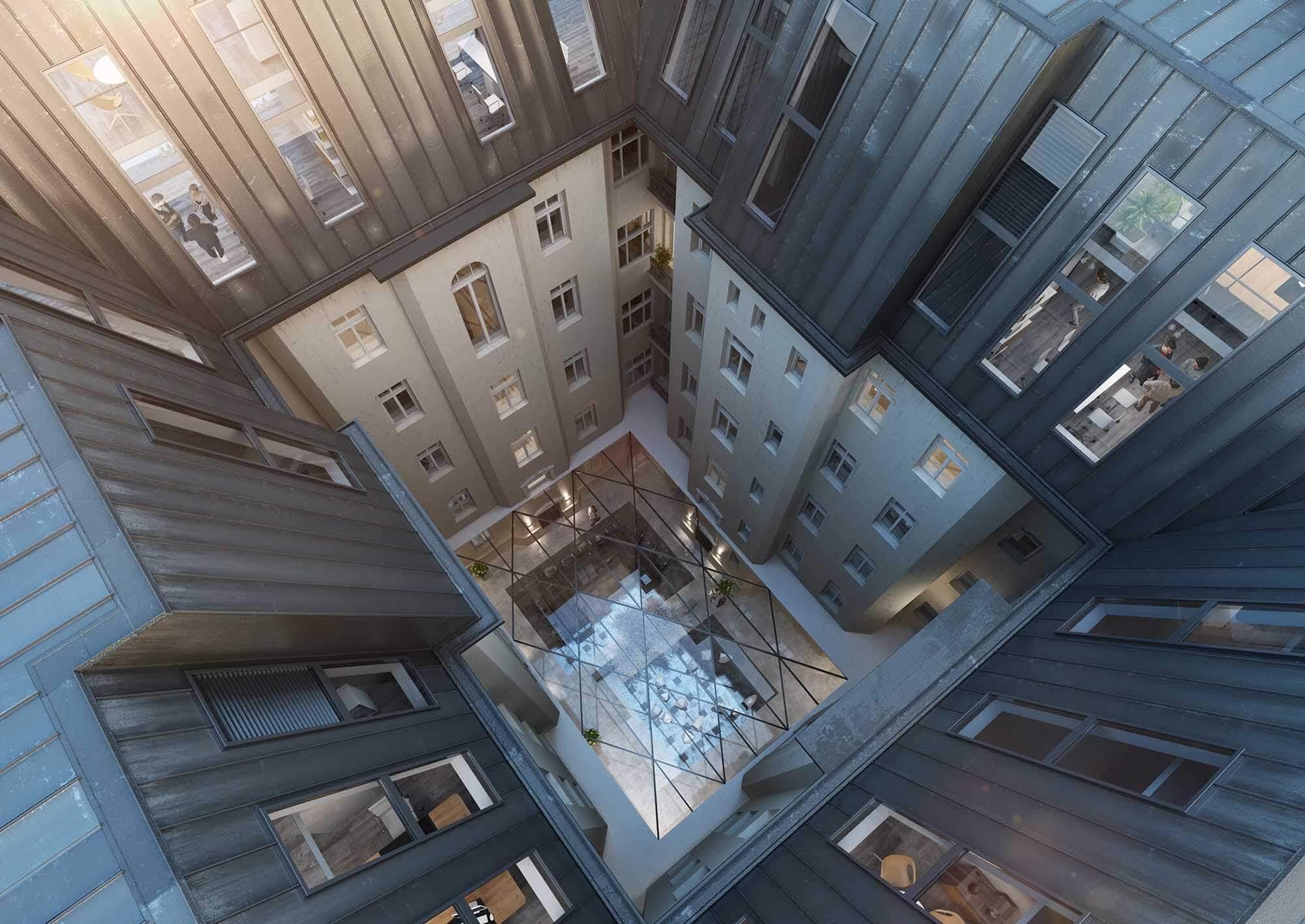 Wizualizacje architektoniczne budynku biurowego Poznańska 37, FS&P Arcus