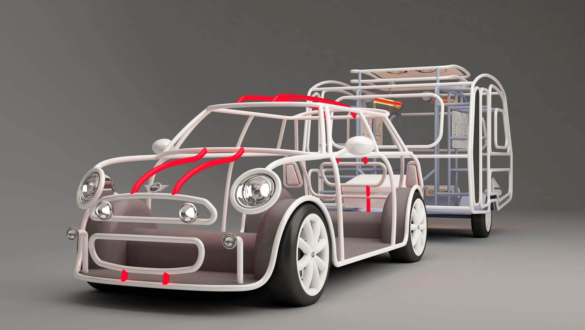 Wizualizacje produktu - promocja marki BMW Mini i Risk Made in Warsaw