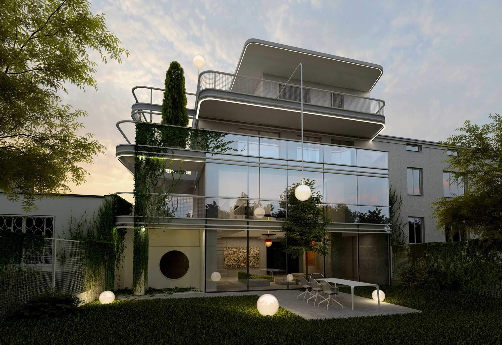 Wizualizacje architektoniczne domu w Warszawie