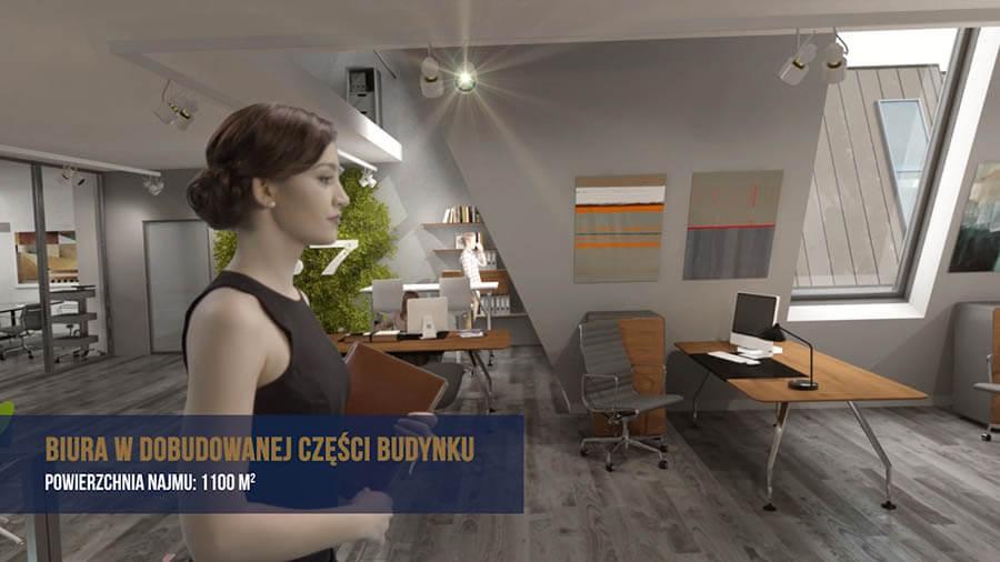 Animacje 3D budynku biurowego Poznańska 37