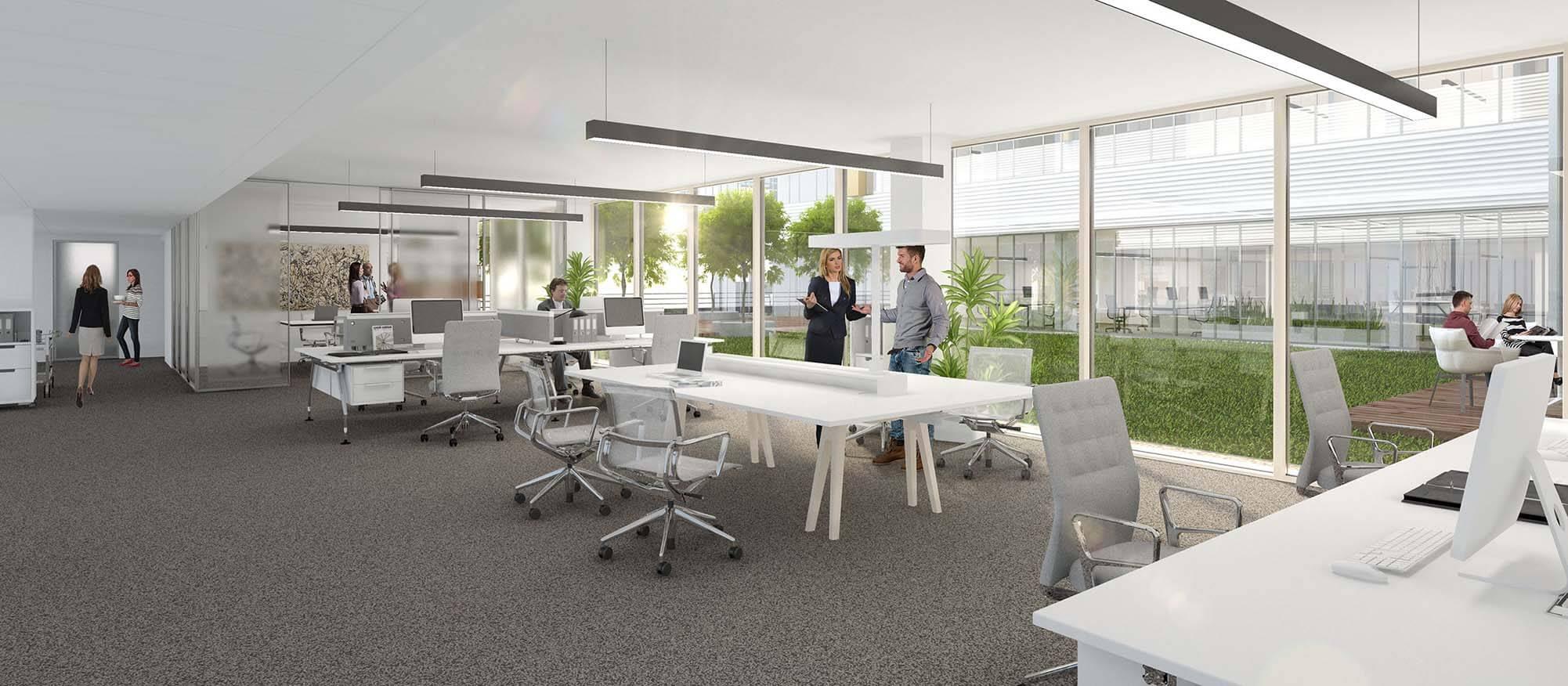 Wizualizacje wnętrz budynku biurowego Trimaran praha, Hoffmann - Janz Ziviltechniker-GmbH