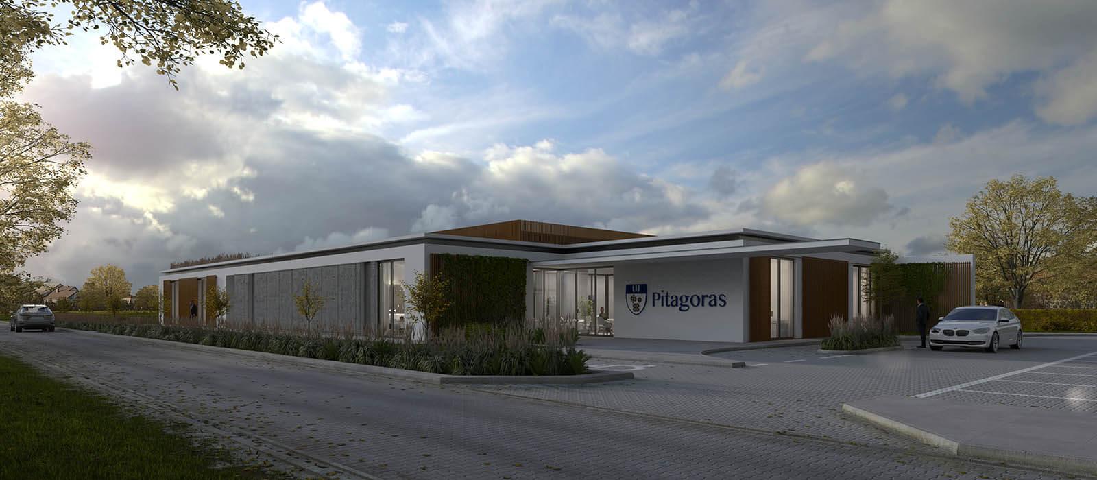 wizualizacje 3D szkoła prywatna proj. Rubikon Team